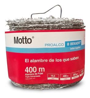 Alambre Puas Motto Calibre 16.5 X 400 Mt 16 Kilos Triple Gal