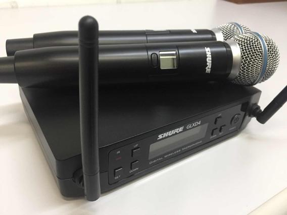 Microfone Shure Duplo Glxd4 Beta 58a Promoção Da Semana