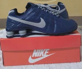 Tenis Nike Shox Junior Azul E Cinza Nº41 Original Na Caixa