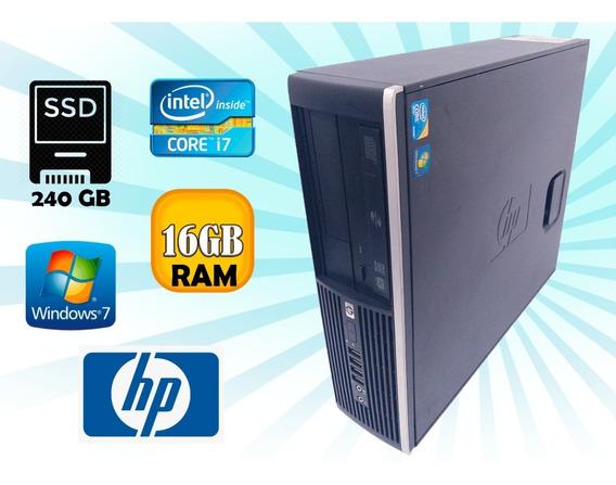Pc Desktop Cpu Hp Compaq 8100 Elite I7 860 / 240 Gb Ssd 16gb