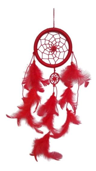 Filtro Dos Sonhos Com Penas Vermelho Ref: 9481