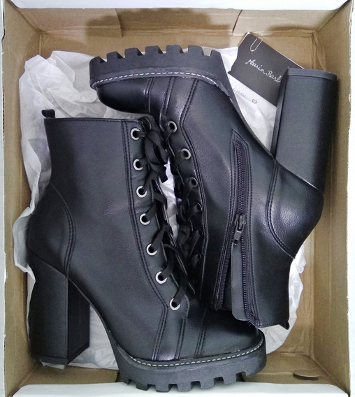 Bota Coturno Combat Boots Lace Up Napa Tratorada