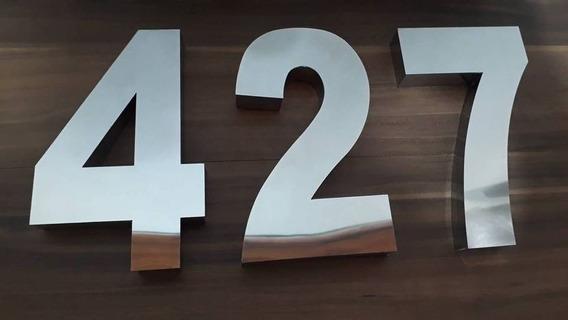 Kit 3 Números Residencial Aço Inox Brilhante 20 Cm Promoção