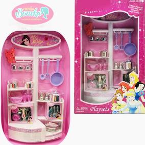 Kit Cozinha Pra Boneca Barbie * Panela Prato Copo Talheres