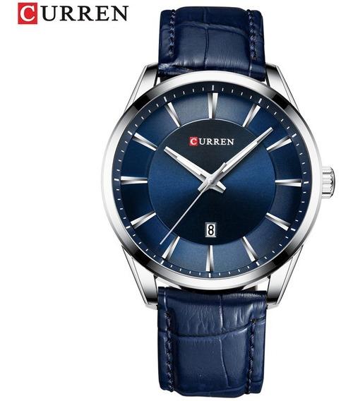 Relógio Masculino Curren Importado Modelo 8365 Azul