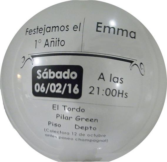 Globos Impresos Personalizados Invitacion X 50 Uni.