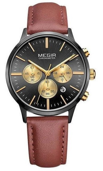 Relógio Feminino Megir Cronógrafo M-2011 Black