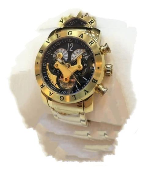Relógio Bv Gry359 Venom Dourado Original