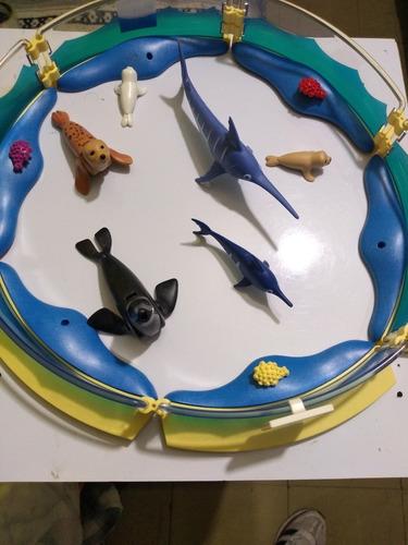 Acuario Pecera Playmobil Con Animales