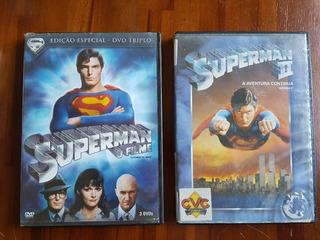 Superman O Filme - Dvd Triplo + Superman 2 - Originais
