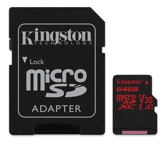 Cartao De Memoria Classe 10 Kingston Sdcr/64gb Micro Sdxc 6