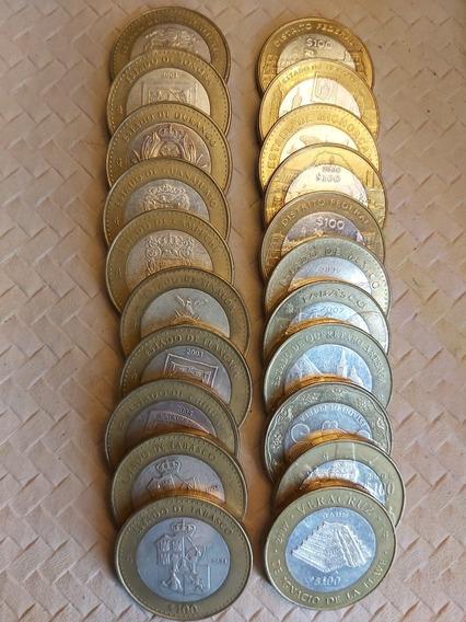 Monedas De 100 Pesos De Los Estados I Etapa Y 2 Etapa