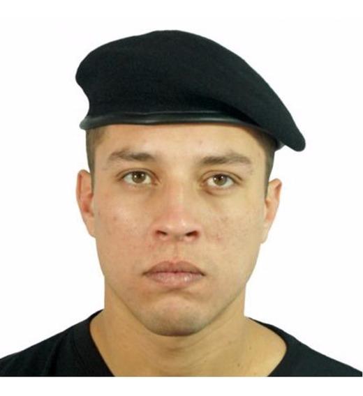 Boina Militar Francesa Preta Oficial