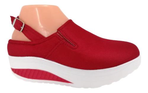 Imagen 1 de 1 de Zapatilla De Mujer 2020-100  Rojo