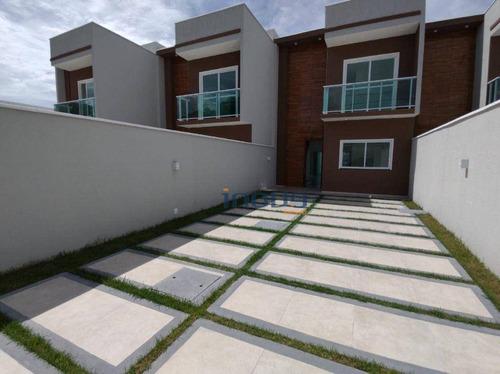 Imagem 1 de 22 de Casa Duplex Com 03 Suítes No Centro Do Eusébio - Ca0999