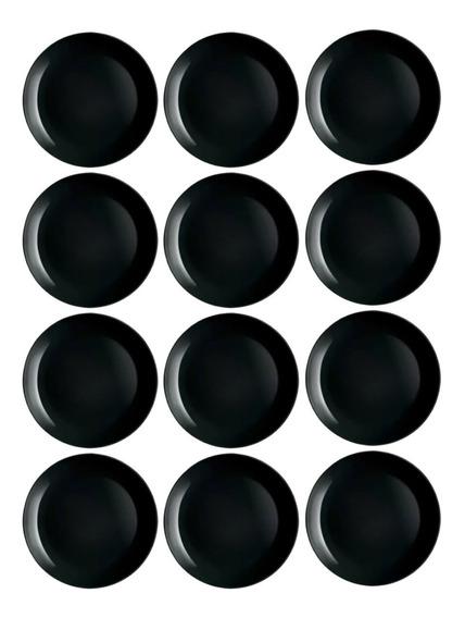 Plato Playo X12 Luminarc Diwali 25cm Vidrio Extra Resistente