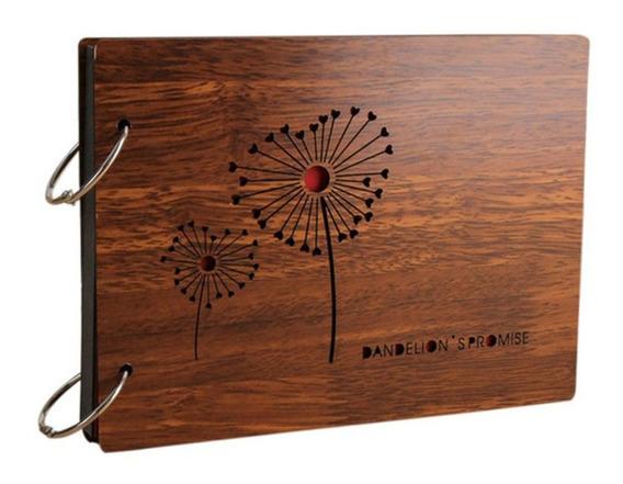 8 Polegadas 22 X16cm Diy Álbum De Foto De Madeira Scrapbook