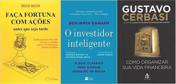 Faça Fortuna Com Ações + O Investidor Inteligente + 1 Livro