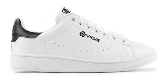 Zapatillas Vicus Furo Cuero Pu Blanco Negro