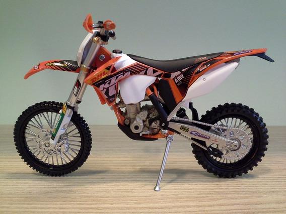 Miniatura Moto Ktm Exc-f 350 Trilha Off Road Sem Caixa 1:12