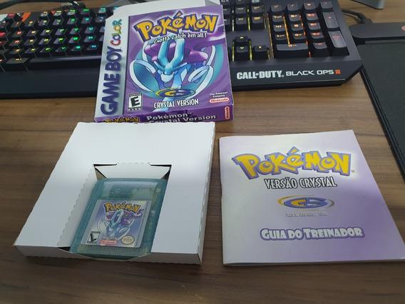 Jogo Game Boy Color Pokemon Crystal Com Manual E Caixa Leia