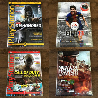 Lote 2 - 10 Revistas Playstation Oficial - Brasil