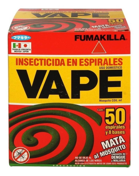 Insecticida Espirales Vape Mata Mosquito [caja 50 Espirales]