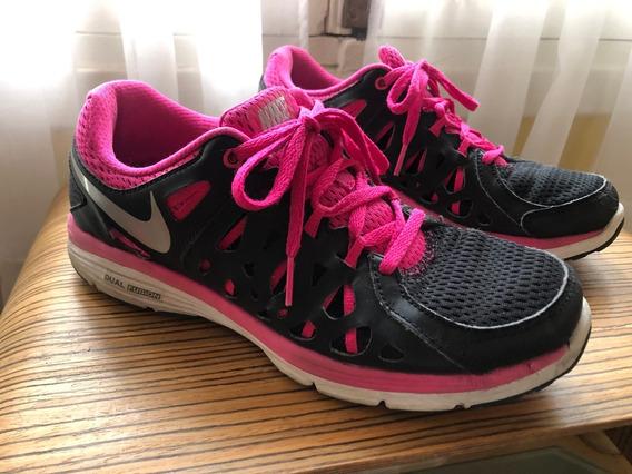 Nike Dual Fusion Run 2 Negras Y Fuxia 39