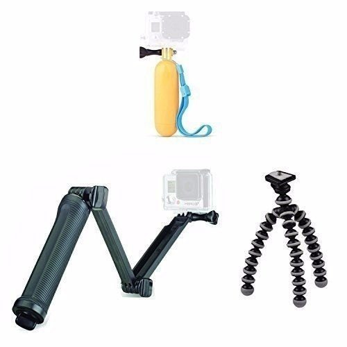 Kit Hero Bastão 3 Way + Flutuante+mini Tripe Flexível TriPod