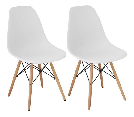 Cadeira Charles Eames Wood Design Kit 02pc Nf + Garantia