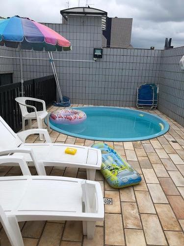 Cobertura Com 3 Dormitórios À Venda, 226 M² Por R$ 830.000,00 - Campo Grande - Santos/sp - Co0226