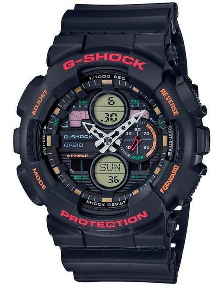 Relógio G-shock Ga-140-1a4dr Masculino Preto