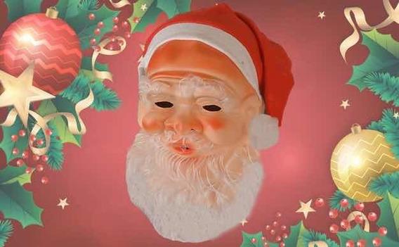 Máscara Papá Noel Importada Látex C Gorro