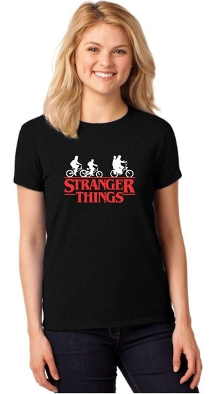 Camiseta Feminina T-shirt Série Stranger Things Baby Look