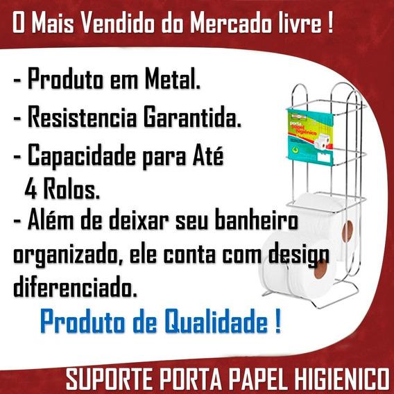 Rolos Suporte Papel Higiênico Metal Promoção Banheiro Casa