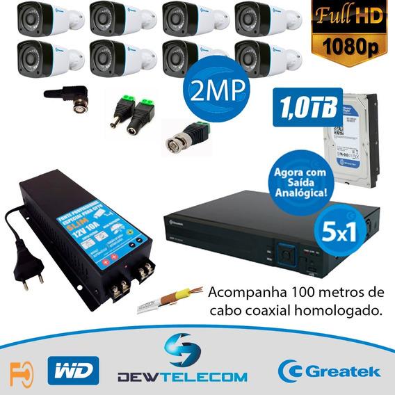 Kit Cftv 8 Cameras Fullhd 1080p - 1.499,0 A Vista