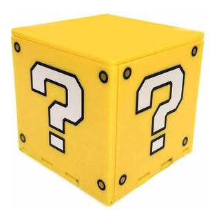 Caixa Porta Cartucho Nintendo Switch Bloco Interrogação ? Super Mario Organizadora