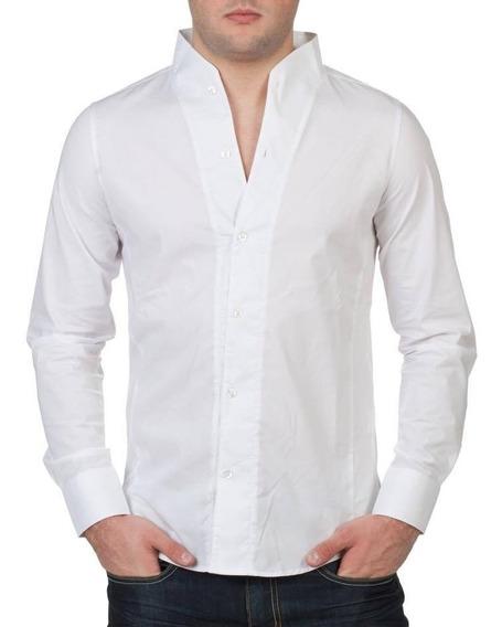Camisa Hombre 100% Algodón Manga Larga G039