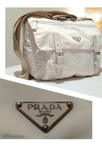 Bolsa Messenger Prada Original Tessuto White Nylon