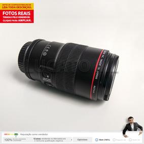Lente Macro Canon Ef 100mm F/2.8 L Is Usm Até 12x Sem Juros