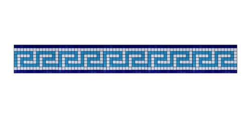 Imagen 1 de 1 de Cenefa En Mosaico Veneciano Griega. (metro Lineal)