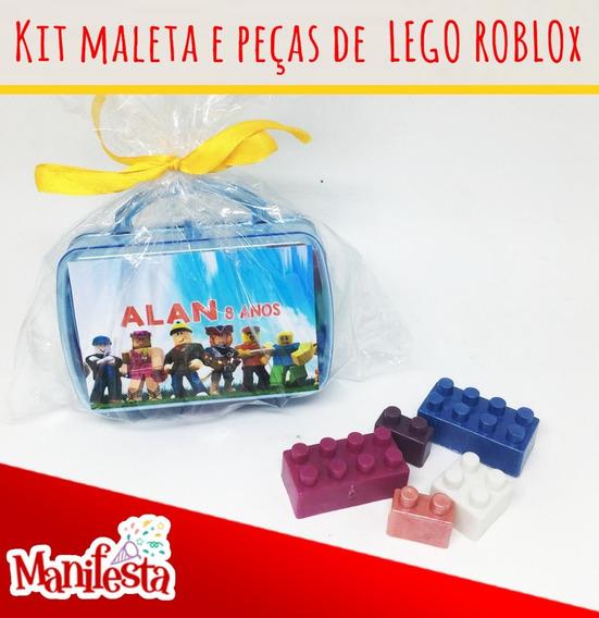 Maletinha De Acrílico Lego Lembrancinha Roblox 10 Unidades
