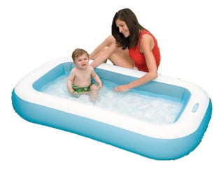 Pileta Inflable Rectangular Bebe 166x100x28cm Intex 21576/3