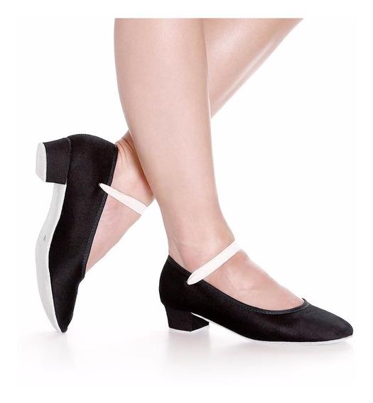 Sapato Caracter Para Exames Royal Academy Of Dance Salto 3,5