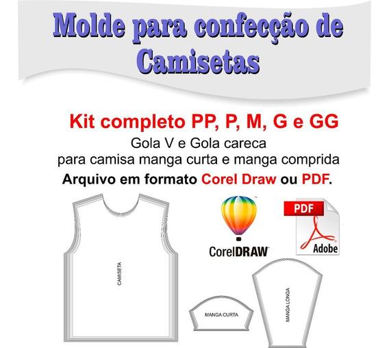 Molde Para Camiseta Gola V E Gola Careca - Corel Draw Ou Pdf