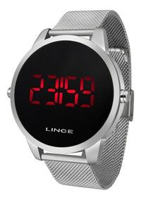 Relógio Lince Digital Unissex Prata - Mdm4586l Pxsx Led