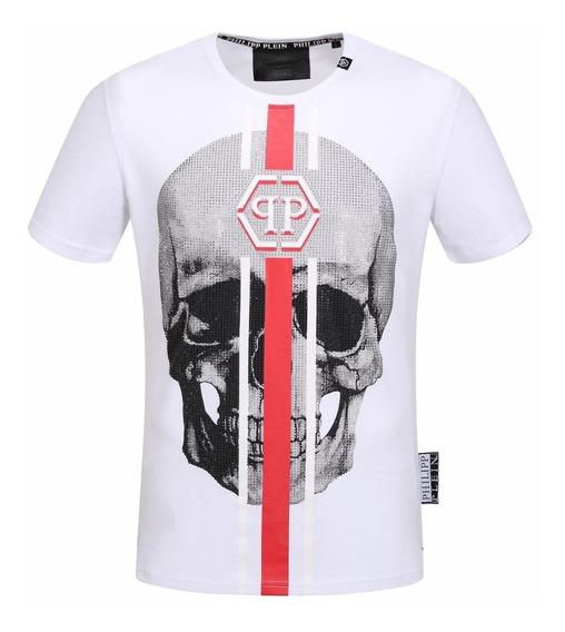 Kit 3pcs Philipp Plein Camiseta Lançamento Pronta Entrega