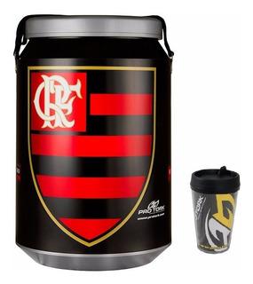 Cooler Térmico Flamengo Com Alça Top + Brinde Copo Termico