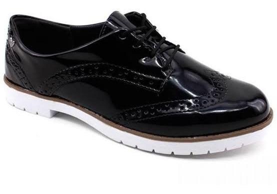 Sapato Oxford Mississípi Feminino Verniz