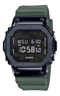 Relógio Casio G Shock Gm 5600b-3 Verde Caixa De Aço